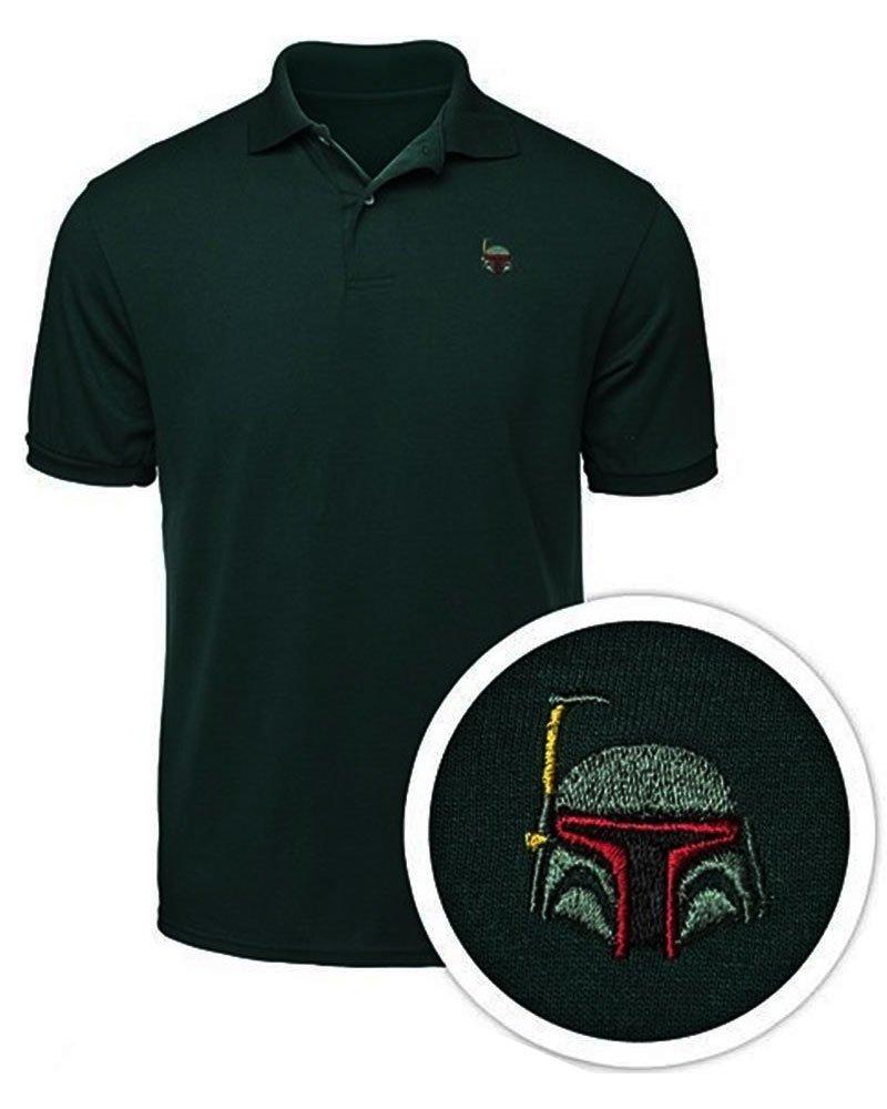 Star Wars Boba Fett Men's Polo Shirt, Large-Green