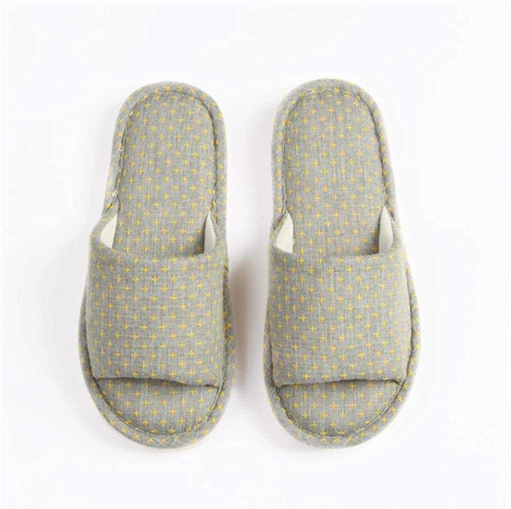 Grey GouuoHi Womens Slippers Women Home Slippers Indoors Leisure Non-Slip Wear-Resistant Printed Pattern Classic Casual Basic Wild Comfortable Wild Slippers