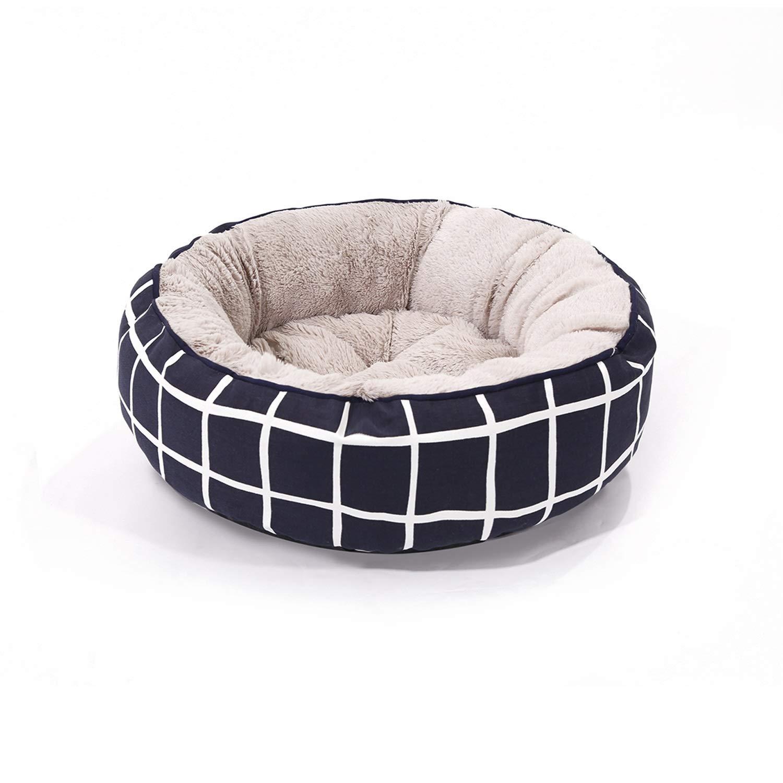 bluee Plaid 57cm15cm bluee Plaid 57cm15cm Siler Pet Bed, Pet Nest Waterproof Canvas Kennel Dog Cat Bed Indoor Washable Pet Soft Cushion Comfortable Breathable Pet Sofa SL-002 (color   bluee Plaid, Size   57cm15cm)