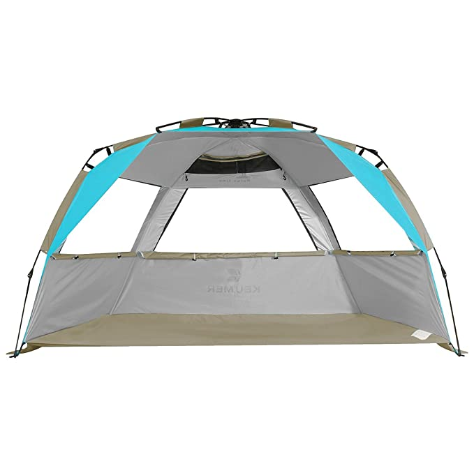 G4Free Easy Set up Beach Tent Pop up Sun Shelter Large Family Beach Shade UV Protection for Baby Kids,4 Person Portable Camping Shelter for Outdoor Sports Beach Tour Hiking Fishing or Picnic
