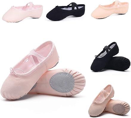 HiDance Girl Ballet Shoe Canvas Dance Practice Slippers