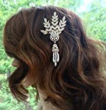 Art Deco Wedding Hair Comb, Gatsby Bridal Accessories, Old Hollywood Hair Comb