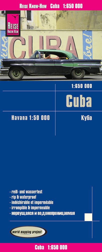 Cuba, mapa impermeable de carreteras. Escala 1:650.000 impermeable. Reise Know-How. (Inglés) Mapa – Mapa doblado, 1 dic 2015 VV.AA. 3831773122 Gazetteers & Maps) Travel maps & atlases