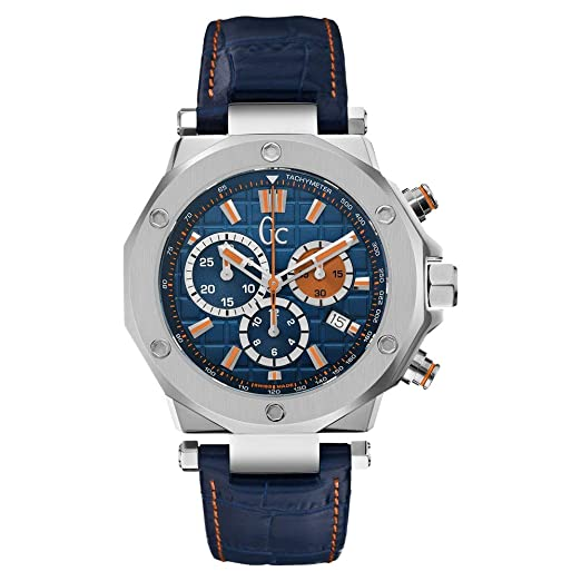Guess Gc Collection Mens Guess Collection Mens Leather Blue Watch