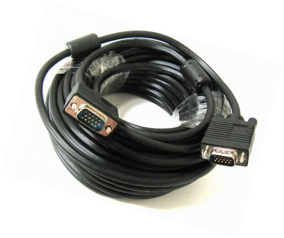 Cord HD15 Male//Male SVGA 25ft Super VGA Monitor Cable