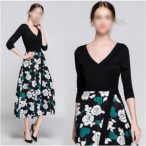 Vestido de Mujer Falda con Estampado de Flores Falda Floral ...