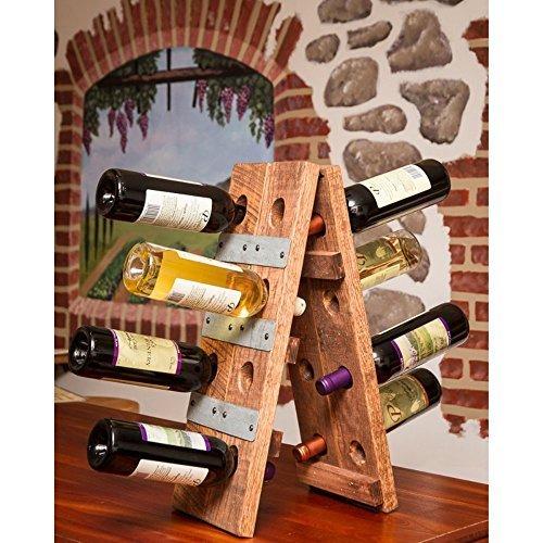 Napa East Wine Barrel Small Folding 16 Bottle Riddling Wine Rack by Napa East