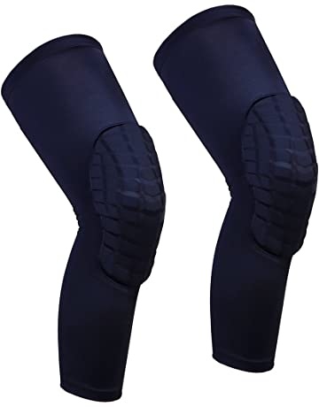 8a7620ada5 Cantop Knee Pads Long Compression Leg Sleeves Braces for Basketball Volleyball  Football and All Contact Sports