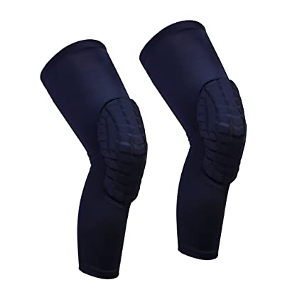 fe87e8a957 Cantop Knee Pads Long Compression Leg Sleeves Braces for Basketball  Volleyball Football and All Contact Sports, Kids Youth Adult Girls Boys  Women Men, ...