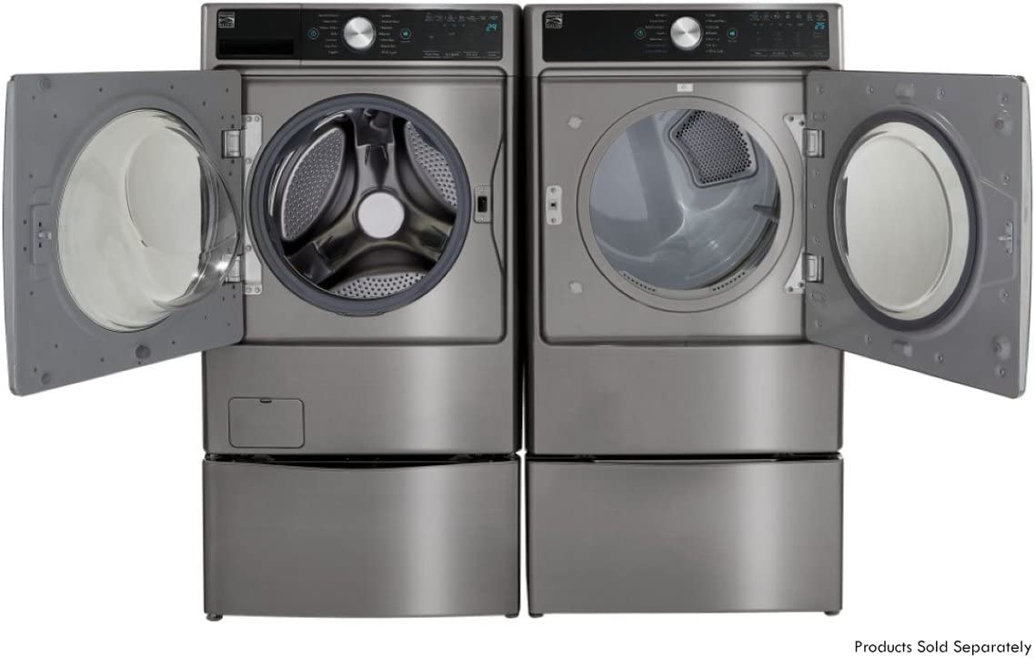 in Metallic Silver -Works with Alexa and enabled with  Dash Replenishment System Kenmore Elite Smart Gas Dryer with Accela Steam 7.4 cu ft includes delivery and hookup