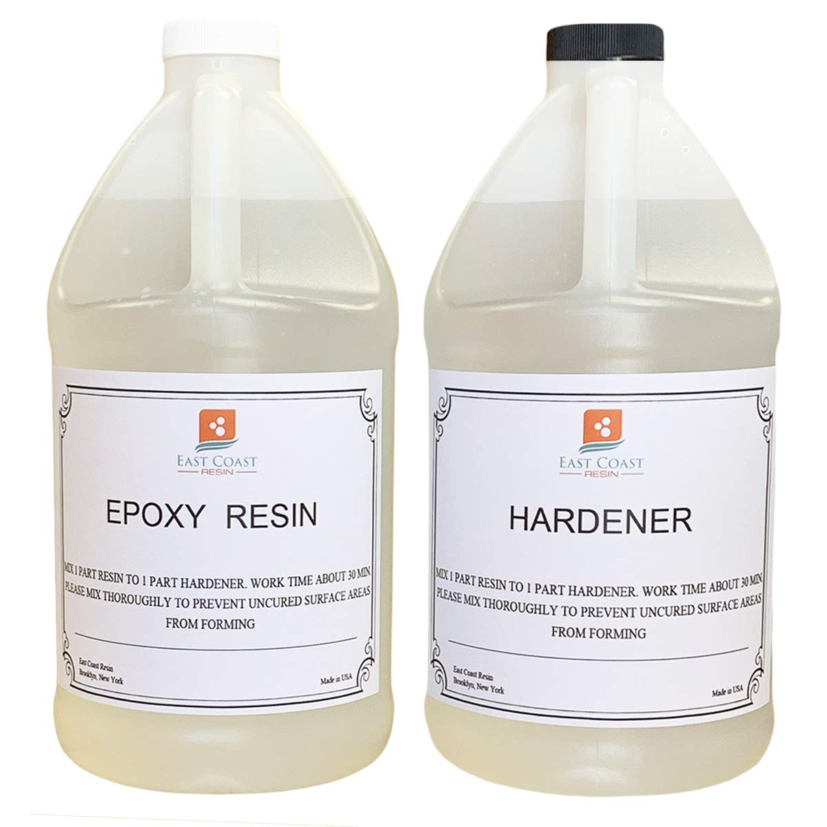EPOXY Resin 1 Gallon Kit. (General Purpose) for Super Gloss Coating and TABLETOPS by East Coast Resin