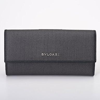 23c90e200c50 Amazon.co.jp: ブルガリ 長財布 メンズ 32589 ブラック ウィークエンド ...