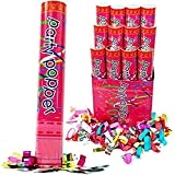 12 Inch Confetti Cannons Air Compressed Party Poppers (1/pkg) Pkg/72