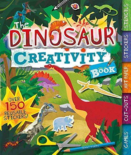 (The Dinosaur Creativity Book: Games, Cut-Outs, Art Paper, Stickers, and Stencils (Creativity Books))