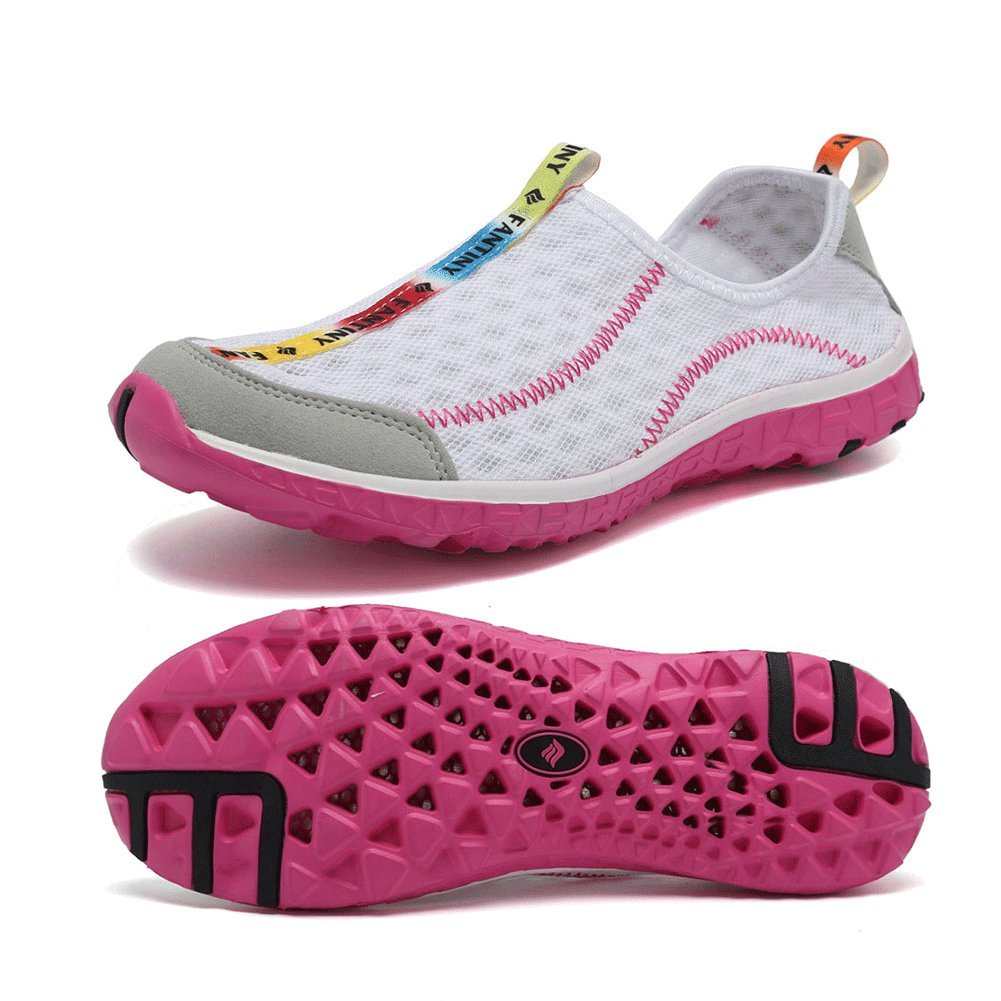 CIOR Fantiny Men Quick Drying Aqua Water Shoes Slip-On Athletic Sport Sneakers