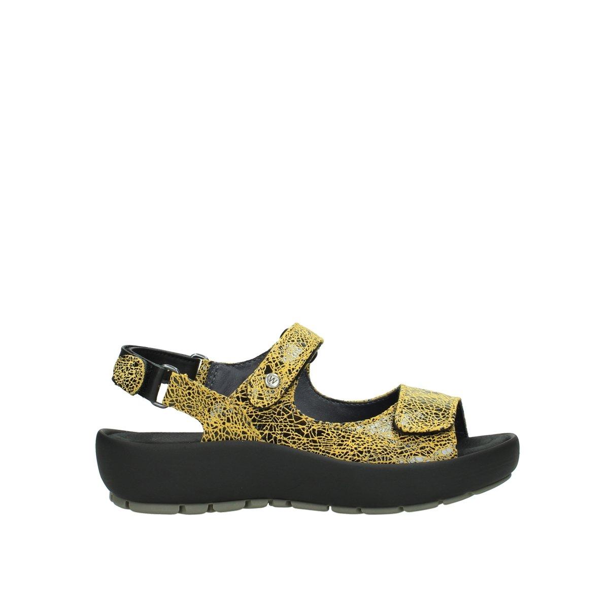 40900 Gelb Suede Wolky Damen Sandale