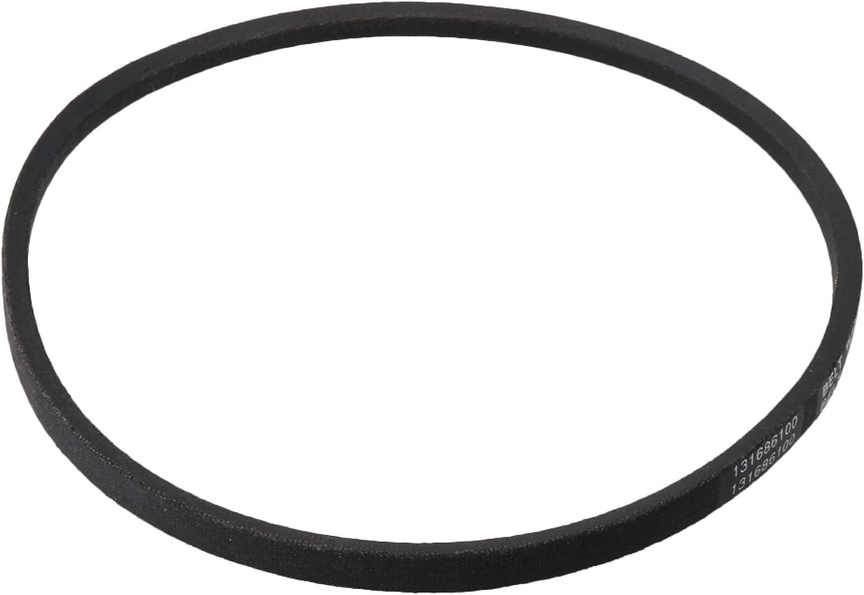 Mxfans 131686100 - Correa de transmisión para lavadora (goma), color negro