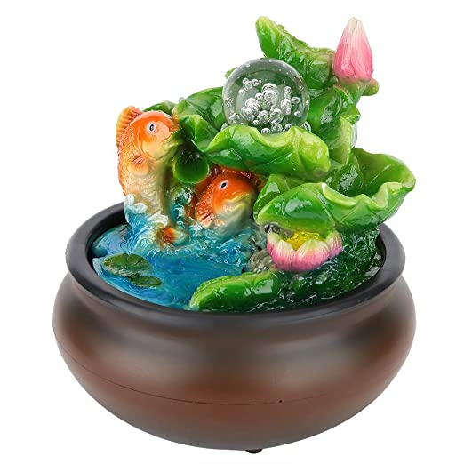 AUNMAS La Mesa de Interior de la Fuente Feng Shui Rueda con Resina ...