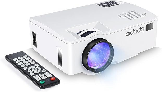 Proyector, TOQIBO LED Mini video Proyector 1800 lúmenes con ...
