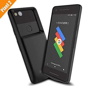 low priced b17b8 ecb8b Google Pixel 2 Battery Case, Newdery Pixel 2 Charger Case 4700mAh  Rechargeable External Charging Case with Sync Through, Portable Extended  Protective ...