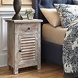 Ashley Charlowe 1 Door Wood Nightstand in White Wash