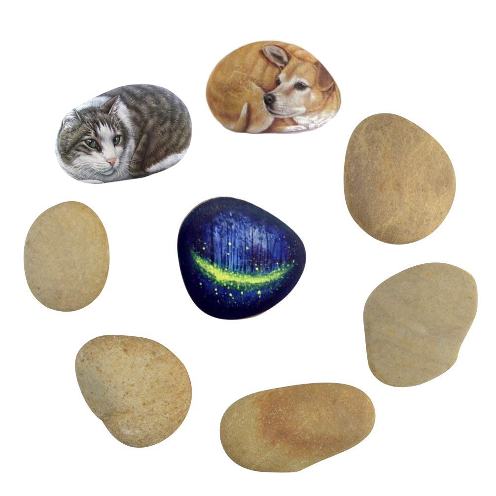 Yolyoo 8PCS Painting Rocks Smooth Rocks for Painting Kindness Rocks Rocks can Range from 1.5 to 2.5 inches