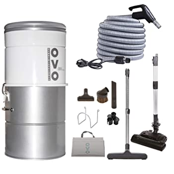 OVO Hybrid Filtration 630 Air Watts Central Vacuum System