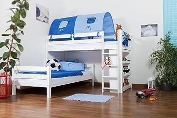 Etagenbett Moritz Mit Rutsche : Kinderbett etagenbett moritz l buche vollholz massiv weiß lackiert