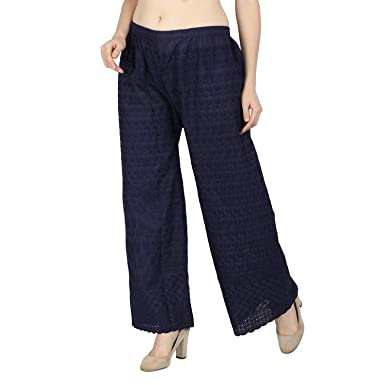 LOOKLINE Women's lucknow chicken palazzo pant Free Size  Amazon.in ... b981cffc2864