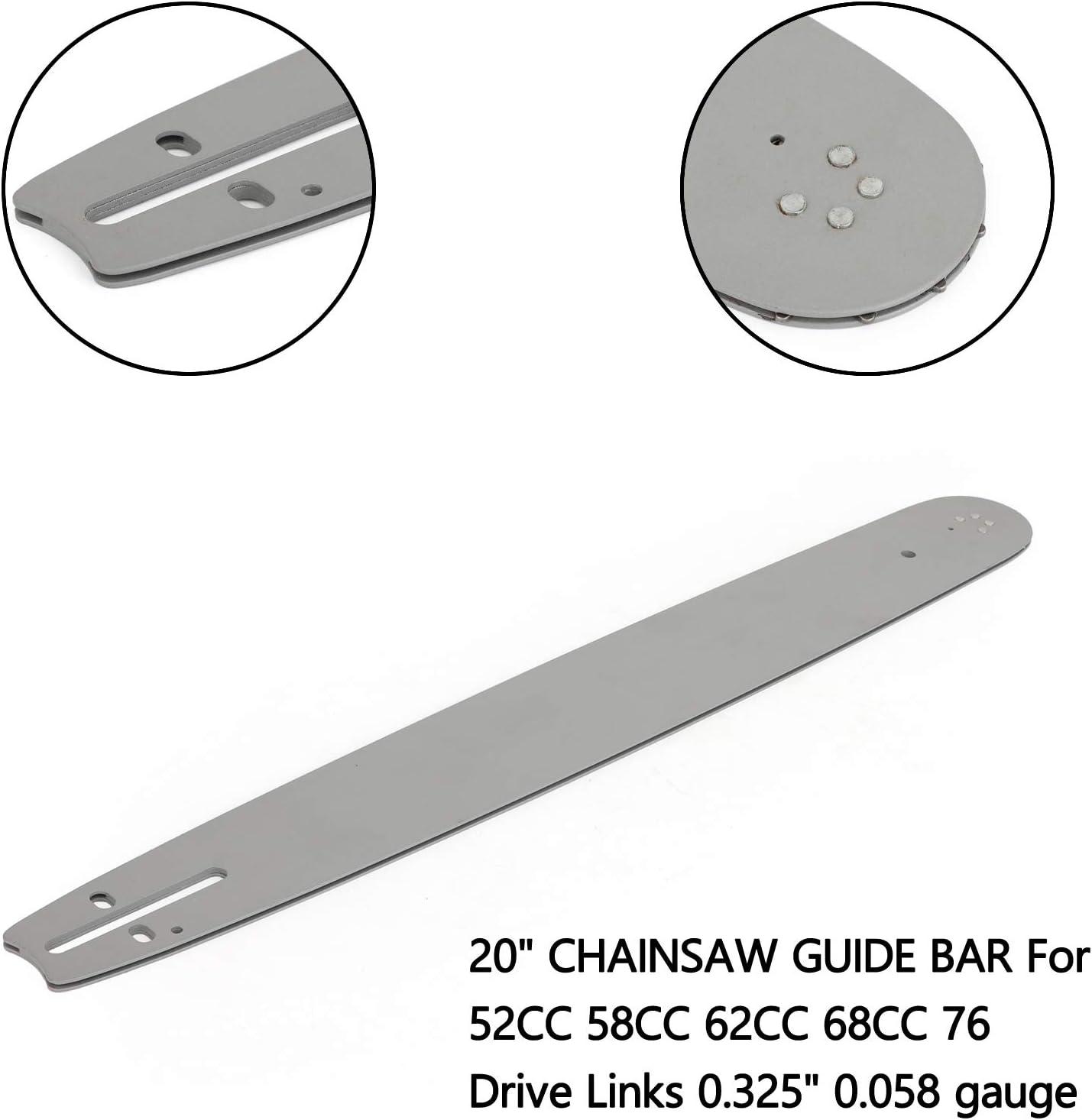 gaixample.org Topteng 20 CHAINSAW GUIDE BAR For 52CC 58CC 62CC ...