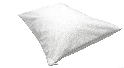 Highliving® Cubre colchones impermeables anti-chinches impermeable con cremallera, cubierta protectora con revestimiento total., tela, Blanco, ...