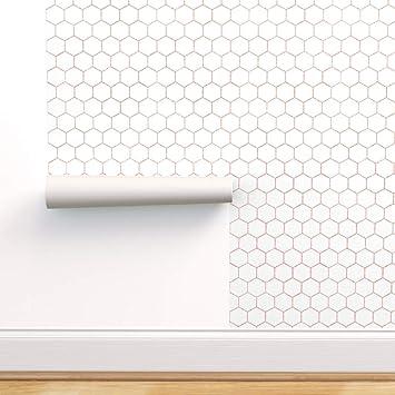 Removable peel and stick wallpaper Honeycomb geometric modern wallpaper