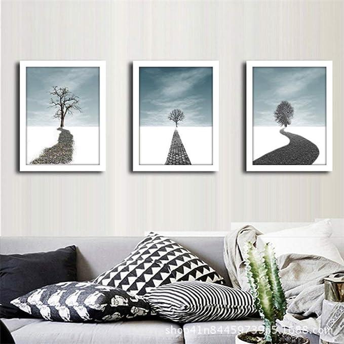 zxddzl Paisaje árbol Pintura Calidad decoración del hogar Arte Vida Cartel Lienzo Pintura sin Marco 3 50 * 70: Amazon.es: Hogar