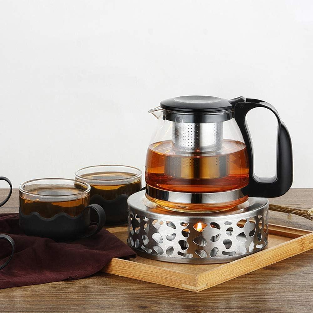 St/övchen Teew/ärmer Kaffeew/ärmer aus Edelstahl Geeignet zum Warmhalten oder Erhitzen der Teekanne Teew/ärmer//Kaffeew/ärmer mit L/öffel IWILCS St/övchen Teekanne Basis