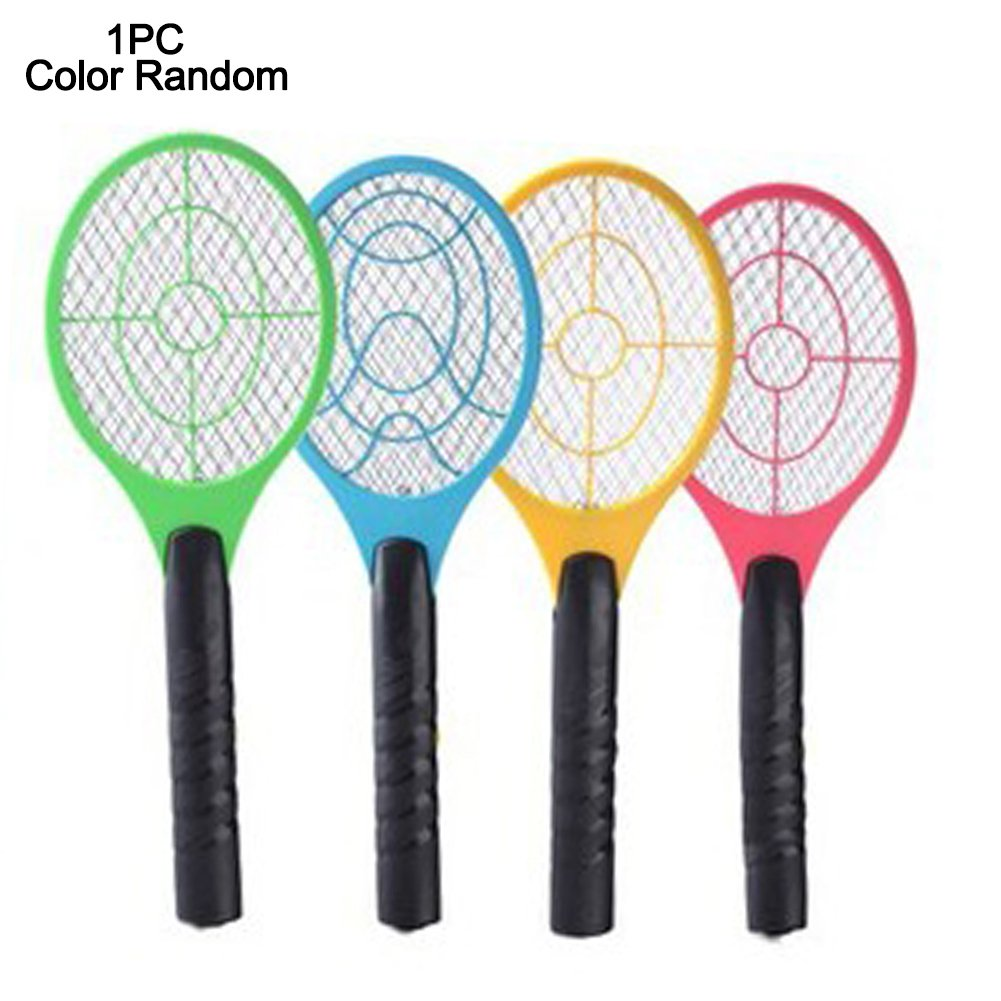 GEZICHTA Mosquito Swatter, Battery Powered Electric Mosquito Fly Bugs Swatter Zapper Bat Racket, Pests Insects Control Killer Repellent, LED Lighting, Double Layers Mesh Protection