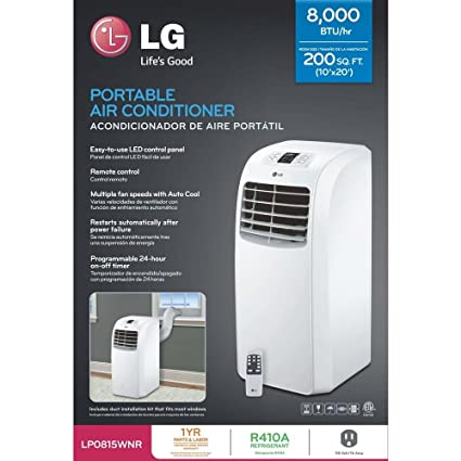 Amazoncom Lg Lp0815wnr Portable Air Conditioner 115v Cooling Only