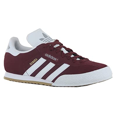 adidas originals samba super originals maroon red suede mens
