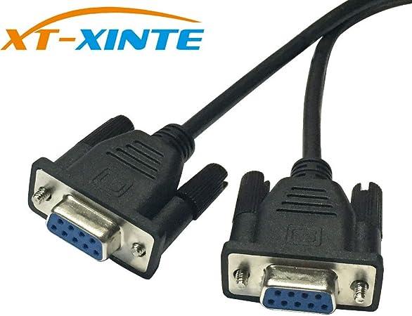 Schwarz-10 pcs XT-XINTE DB9 9Pin 1 bis 2 Rs232 Serielles Kabel Splitter direkt verbunden COM 2 in 1 Daten Kabel M/ännlich zu weiblich f/ür die Registrierkasse Kassenanzeige