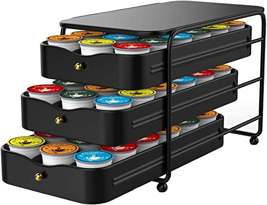 Nifty 3-tier Large Capacity Coffee Pod Storage Drawer for K-Cup Pods 54 only 7