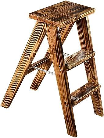 Taburetes escalera Taburete de Paso de Madera Maciza Escalera Antideslizante Plegable para el hogar Pisada Resistente Carga máxima 100 kg Ascend Plegable portátil Almacenamiento fácil: Amazon.es: Hogar