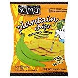 Samai Plantain Chips Sweet - 75g - Pack of 8 (75g x 8)