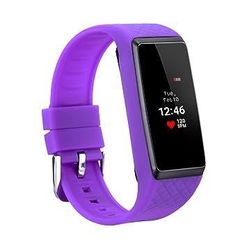 Inchor Wristfit HR - Impermeable Ajustable Smartwatch Reloj de Pulsera Android IOS (Pantalla OLED, Bluetooth, Ritmo Cardíaco, Podómetro, Monitor del ...