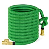 Garden Hose 100ft, HBlife All New 2018 Expandable Water Hose with 3/4 Solid Brass Fittings, Extra Strength Fabric - Flexible Expanding Hose with Free Storage Sack