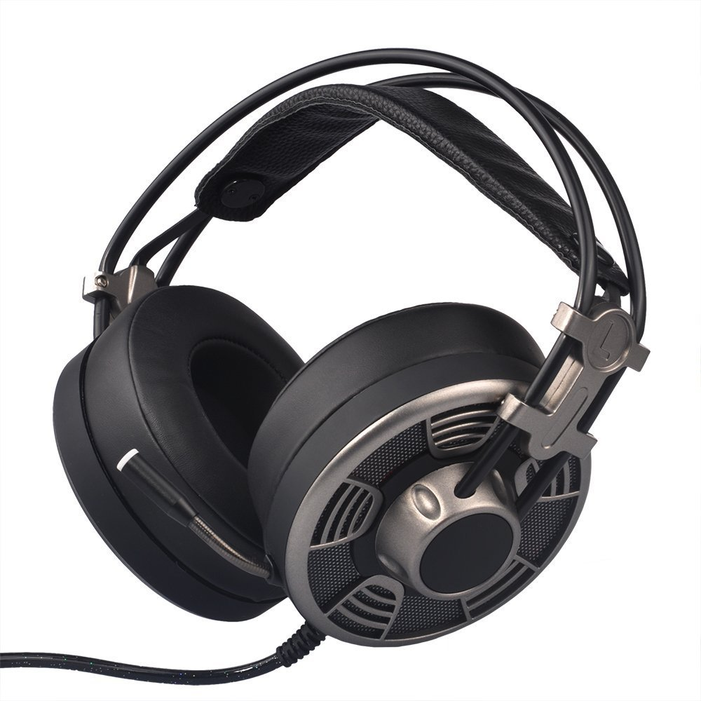 GAKOV Gaming Headset, GAV9 7.1 Stereo Wired Computer Headphones with Micro,LED Light,Bass Surround,Soft Memory Earmuffs for Mac/Computer by GAKOV