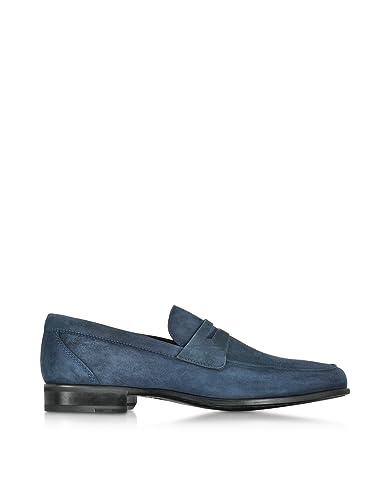 Men's GRAZSUEDENAVYBLUE Blue Suede Loafers