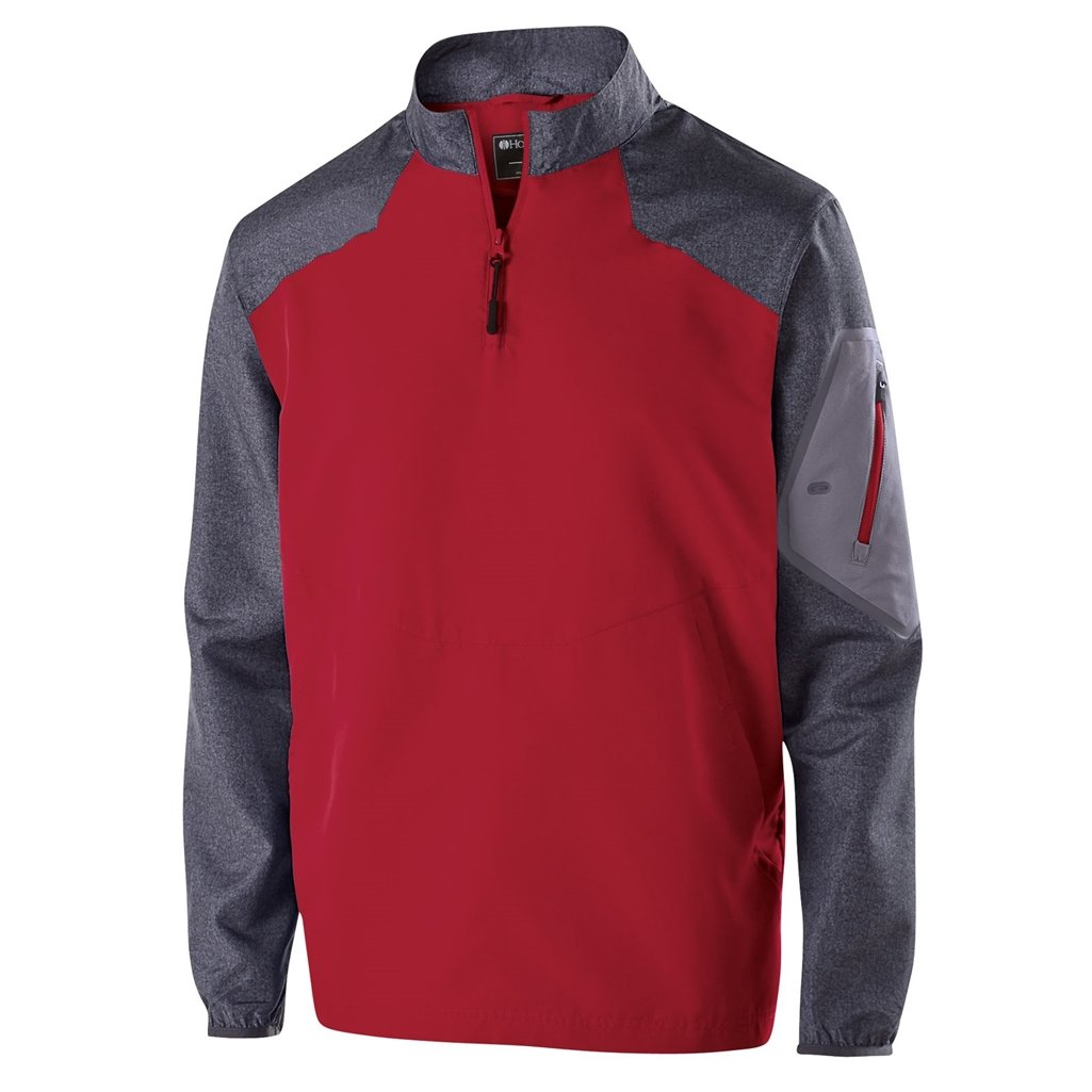 Holloway Youth Raider Pullover (Small, Carbon Print/Scarlet) by Holloway