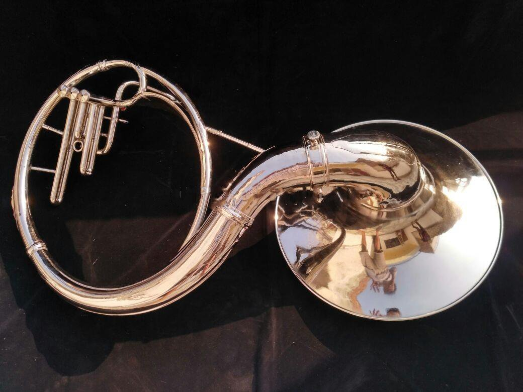 Sousaphone 22 Inche Bell Made of Brass in Chrome Polish With Free Case & MouthPc by SAI MUSICAL (Image #3)