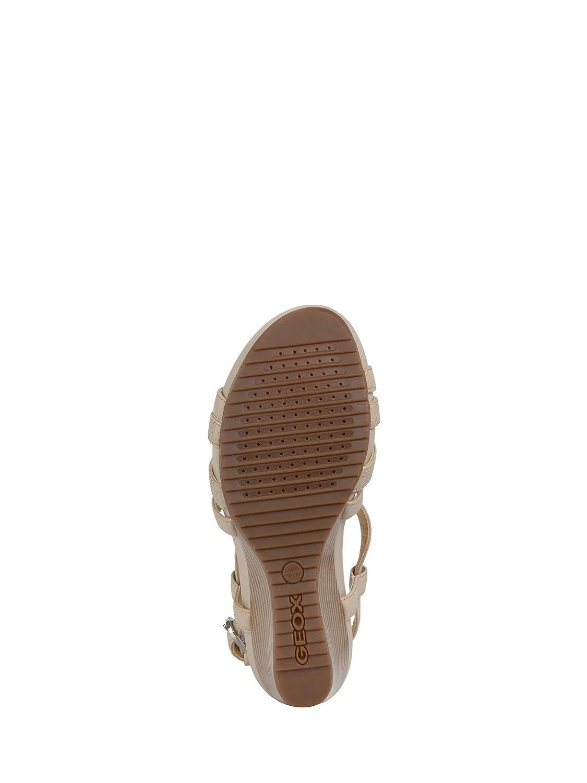 Geox Scarpe da Donna Sandali D New Rorie B in Pelle Bianca D92P3B 05404 C1R1Q