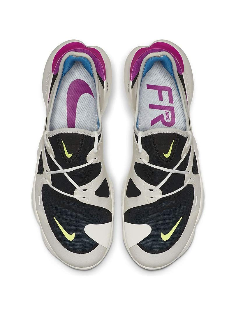 Nike Men's Free RN 5.0 Running Shoes (7.5, White/Volt) by Nike (Image #4)