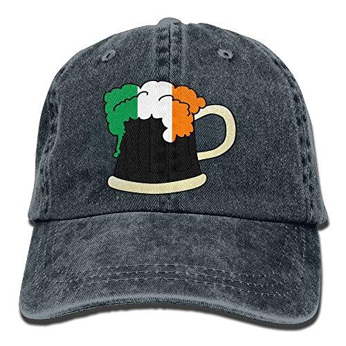 SYSOIO Irish Beer Glasses Pattern Printed Baseball Caps Cowboy Hats Sun - Beer Glass Costume